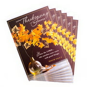 DaySpring Pack of Religious Thanksgiving Cards, Thanksgiving Blessings (6 cards with Envelopes)