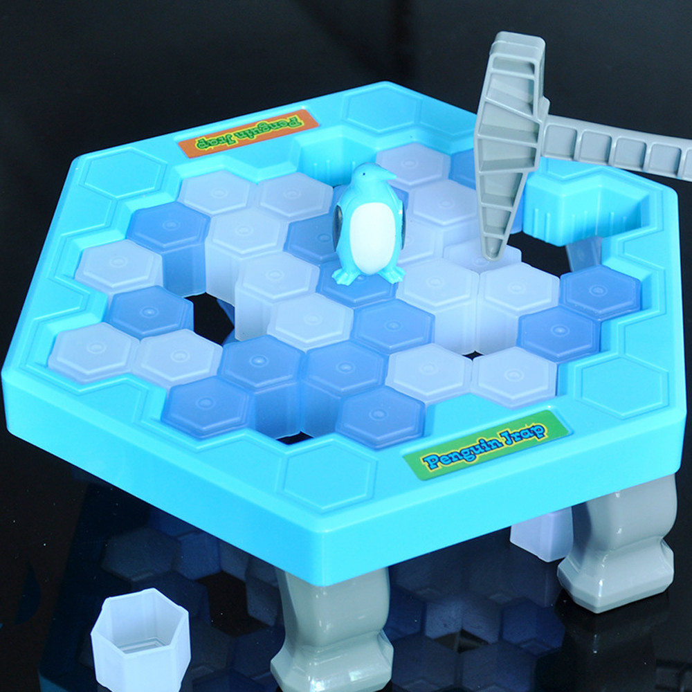 DZT1968HOT Save Penguin Ice Kids Puzzle Game Break Ice Block Hammer Trap Party Toy