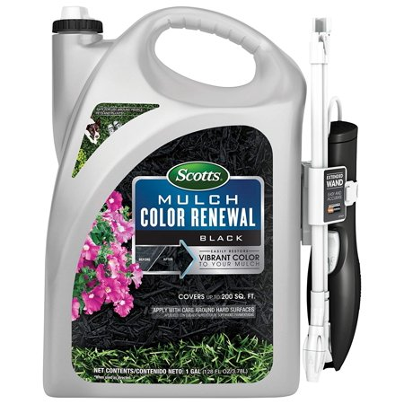 1G Black Color Renew Mulch, Instantly adds color to faded mulch By Scotts