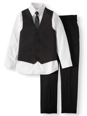 ce667559e3ee72 Product Image Dressy Set with Pinstripe Vest, White Dress Shirt, Skinny  Tie, and Black Pull