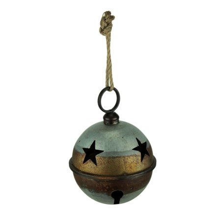 Distressed Metal Vintage Giant Sleigh Bell Ornament ()