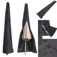Waterproof Patio Outdoor Umbrella Protective Canopy Cover Bag Fit 6ft to 11ft,Black