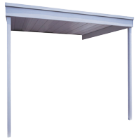Arrow Attached Steel Carport/Patio Cover, 10x10, Eggshell