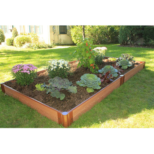 "Frame It All One Inch Series 4' x 8' x 5.5"" Composite Raised Garden Bed Kit"
