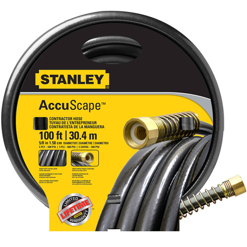 "Stanley 100' x 5 8"" Contractor Garden Hose by Bond Manufacturing"