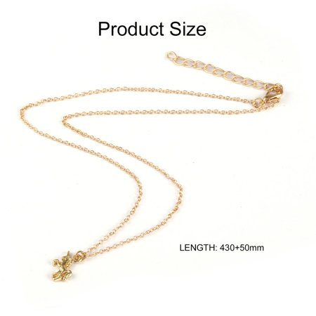 Nickel-free Alloy Pendant Necklace With Unicorn Shape Pendant for Women & Girl - image 8 of 10