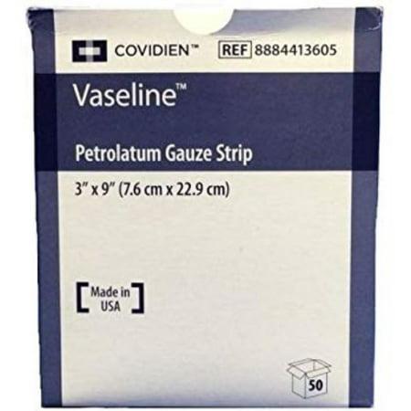 Vaseline Petrolatum Dressing 8884413605, 3 x 9 Inch, 1 Each, White