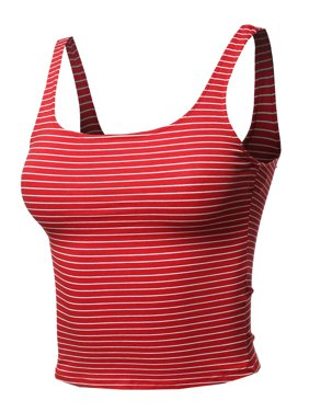 0798aa0ee82 Product Image FashionOutfit Women s Casual Sexy Cute Stripe Sleeveless Crop  Tank Top