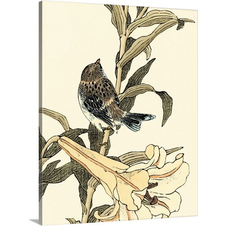 Great BIG Canvas | Vision Studio Premium Thick-Wrap Canvas entitled Oriental Bird on Branch II