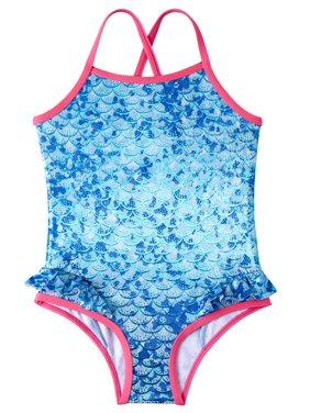 Pink Platinum Mermaid Scales 1pc Swimsuit (Baby Girls & Toddler Girls)
