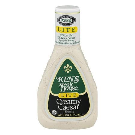 Kens Steak House Dressing Creamy Caesar Lite  16 0 Fl Oz