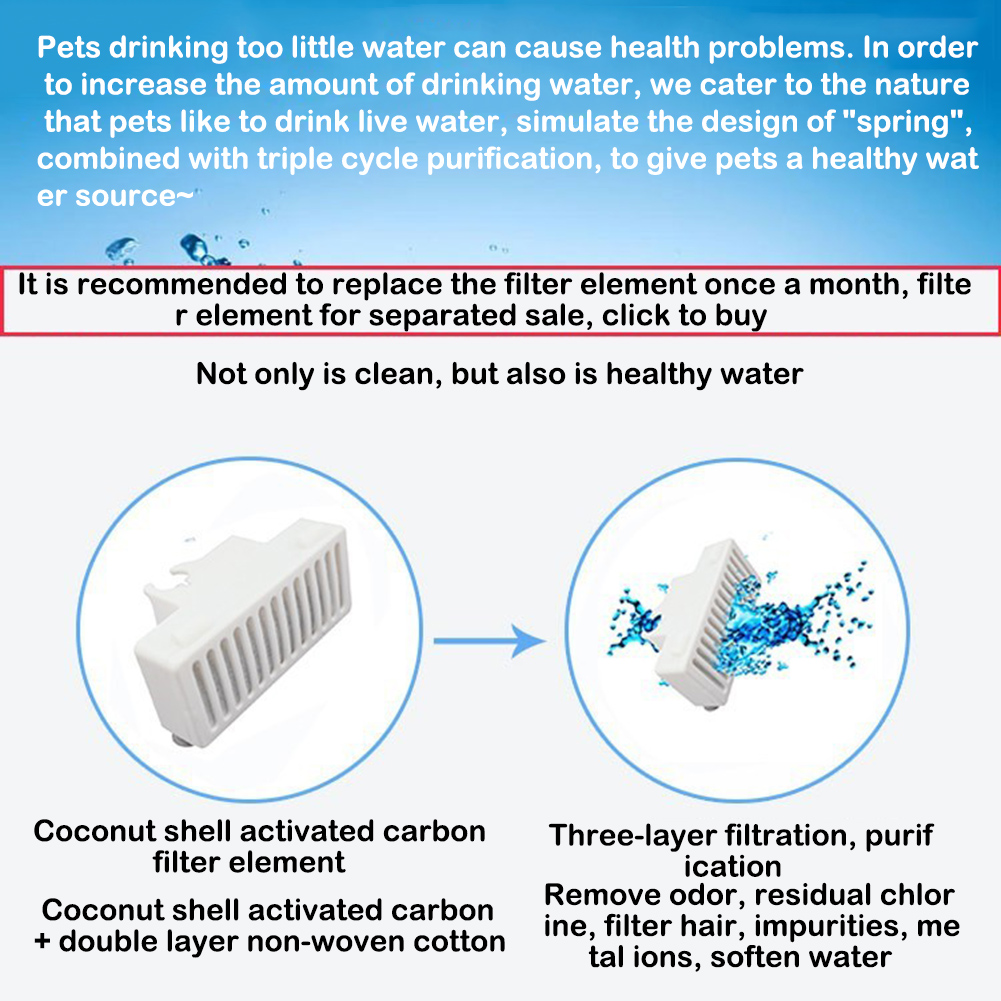 2.34L Pet Water Dispenser Pet Water Fountain Swan Automatic Circulation Feeding Water Flowing Fountain for Cat Dog Filtered Water for Your Pet