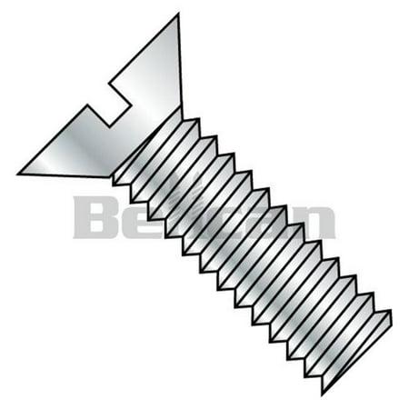 Shorpioen 5036MSF 0.5-13 x 2.25 Slotted Flat Fully Threaded Machine Screw - Zinc - Box of 300 - image 1 of 1