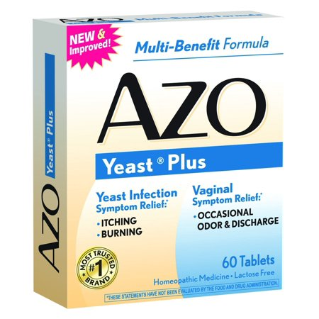4 Pack AZO Yeast Prevention 60 Tablets Ea, Homeopathic Yeast Infection