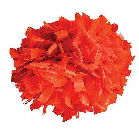 Pizzazz Orange Plastic Cheer Single Pom Pom
