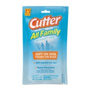 Cutter All Family Mosquito Wipes, Resealable Pouch, 15-ct