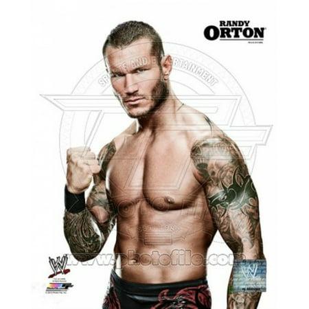 Randy Johnson Autograph Framed Photo (Randy Orton Posed Sports Photo)