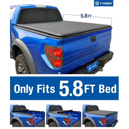 Tyger Auto T1 Roll Up Truck Bed Tonneau Cover TG-BC1C9006 for 2014-2019 Chevy Silverado / GMC Sierra 1500 | Fleetside 5.8