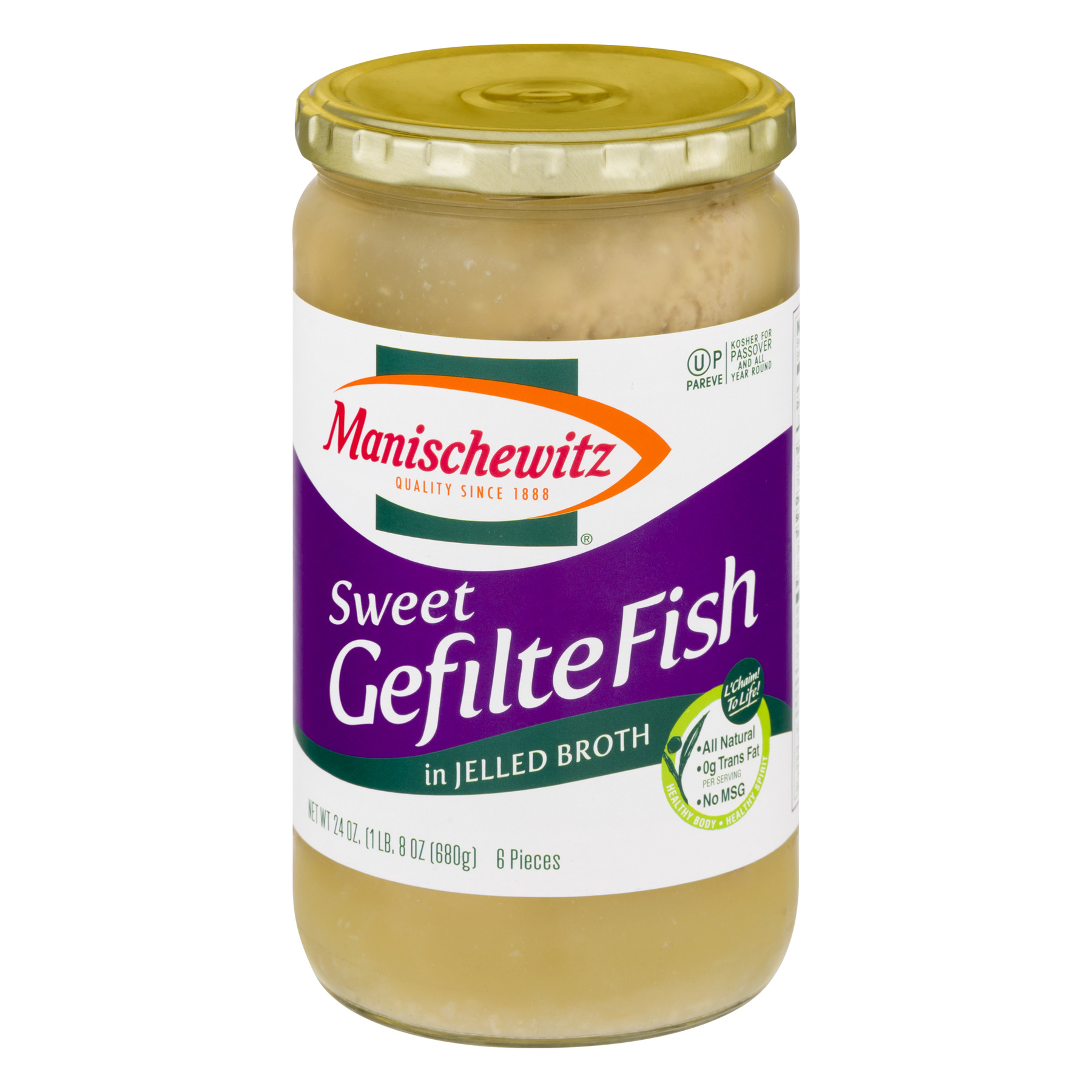 Manischewitz Sweet Gefilte Fish in Jelled Broth, 24.0 OZ