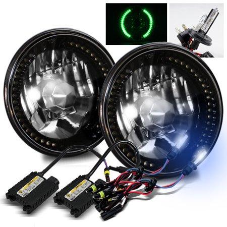 - Modifystreet 8000K H4-2 HID + Green LED Ring H6014/H6015/H6017/H6052/H6024 7