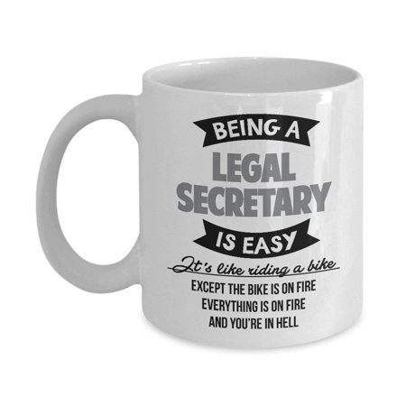 Best Funny Legal Secretary Bikers Coffee & Tea Gift