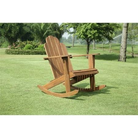 Hawthorne Collection Adirondack Rocker in Teak Adirondack Rocking Chair