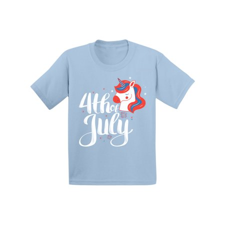 Awkward Styles Memorial Day T Shirt Funny Infant Shirt Made in USA Fourth of July Clothing Patriotic Gifts Unicorn T-Shirt Gifts for Children Independence Day Shirts for Kids Boys Tshirt Girls Tshirt](Blue Nose Friends Unicorn)