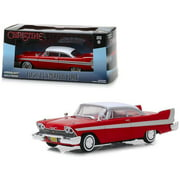 """1958 Plymouth Fury Red """"Christine"""" (1983) Movie 1/43 Diecast Model Car by Greenlight"""