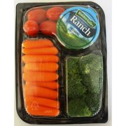 Carrots, Tomatoes & Broccoli Snack Tray with Hidden Valley Ranch Dressing , 7 oz