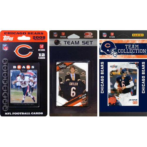 C & I Collectibles NFL 3 Different Licensed Trading Card Team Set