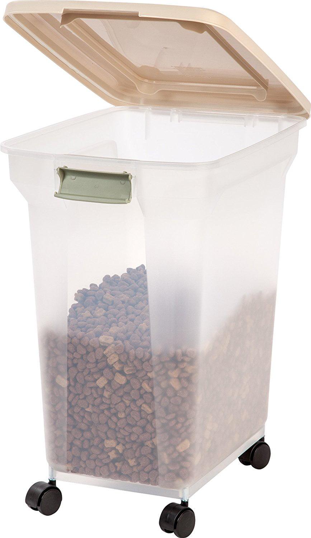 IRIS Premium Airtight Pet Food Storage Container Tan Walmartcom
