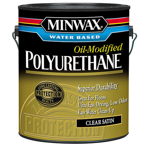 Minwax Water Based Oil-Modified Polyurethane, 1 gallon, Satin