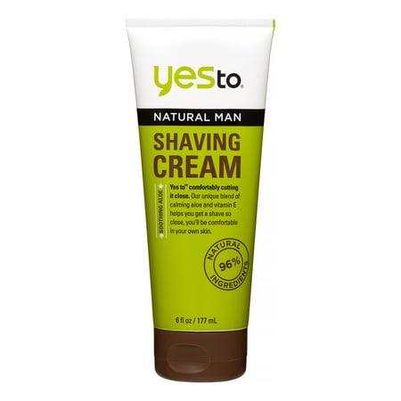 Yes To Naturals Mens Shaving Cream 6 Oz