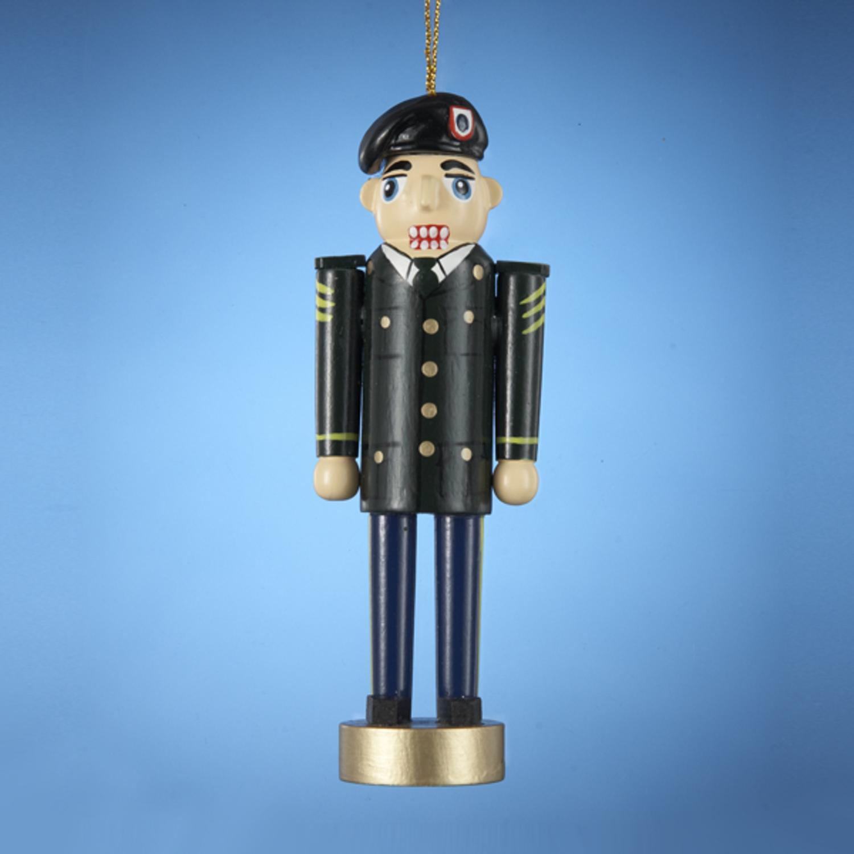 "Pack of 12 Nutcracker in Army Dress Uniform Christmas Ornaments 5"""