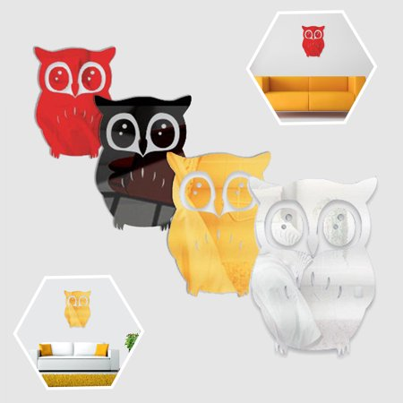 Modern 3D Mirror Owl Wall Stickers Wall Decal DIY Removable Home Room Decor Fashion (Wall Stickers Owl)