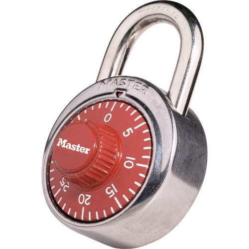 Master Lock 1504D Red Combination Padlocks