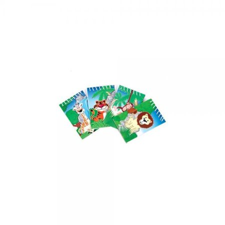 Safari Party Notepad - One Dozen (12) Zoo Animal Jungle Safari Theme Notepads