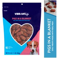 Vibrant Life Pigs in a Blanket Dog Treats, 16 oz