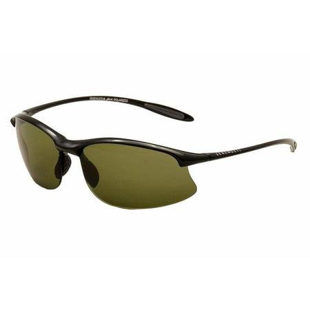 Serengeti Classic Sunglasses - Serengeti Maestrale Shiny Black Polar PhD 555 Sunglasses 7712