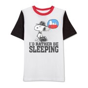 Jem Mens Sleeping Snoopy Graphic T-Shirt by