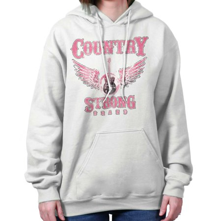 Country Strong Guitar Wings Western Cowgirl Hoodie