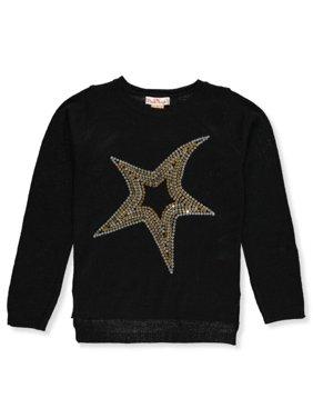 Pink Angel Girls' Sequin Star Sweater
