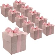 30 Pink Cute Paper Party Favor Bags - Small Paper Bags with Ribbon - Bag for Small Gifts, Candy - Perfect for Baby Shower, Wedding, Parties