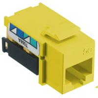 Hubbell Cat 5e Modular Data Jack Yellow NSJ5EY