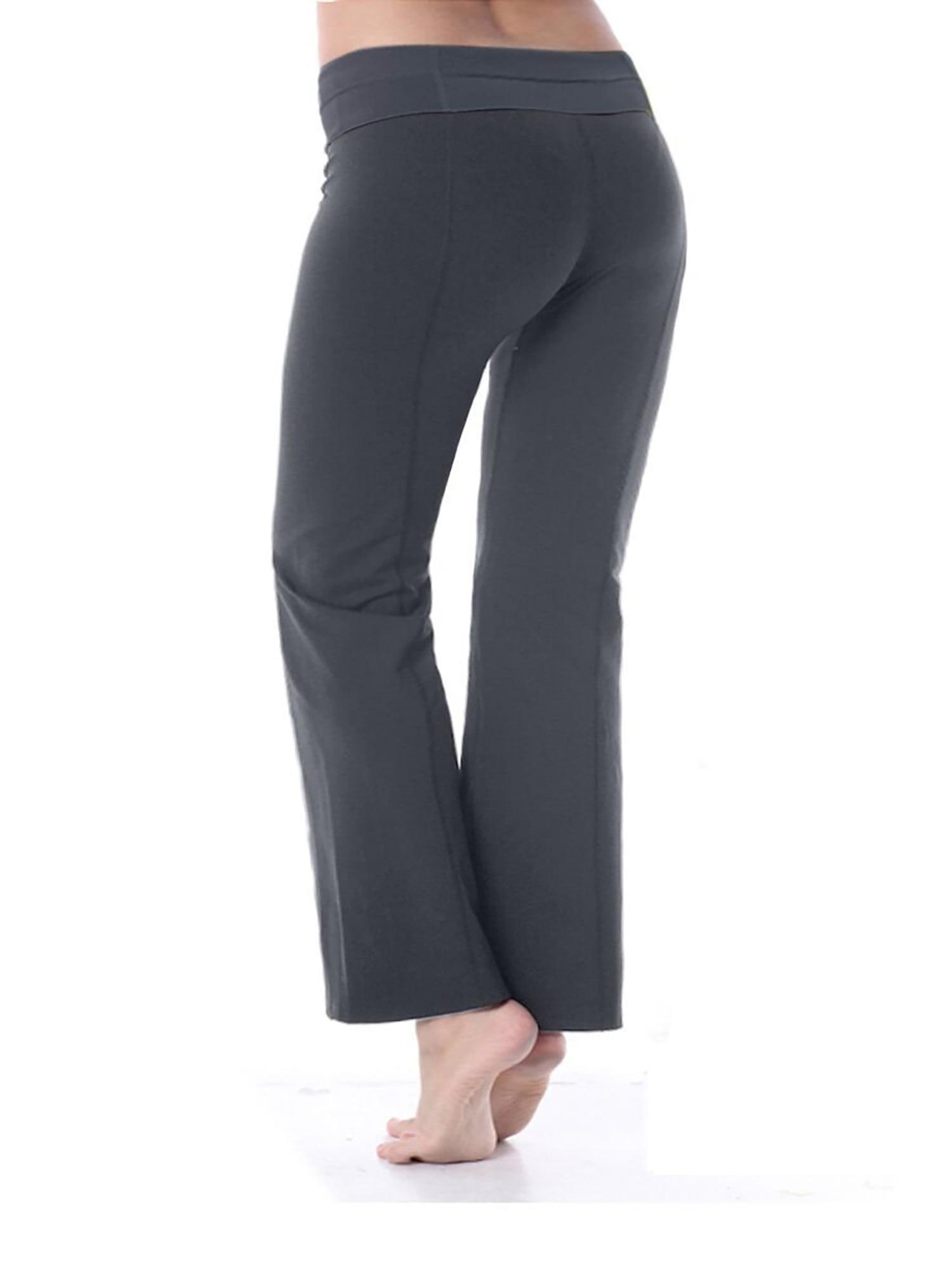 32db8da446b61 TruActivewear - Bootcut Yoga Pants Cotton with Contrast Waistband -  Walmart.com