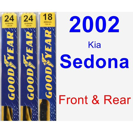 2002 Kia Sedona Wiper Blade Set/Kit (Front & Rear) (3 Blades) -