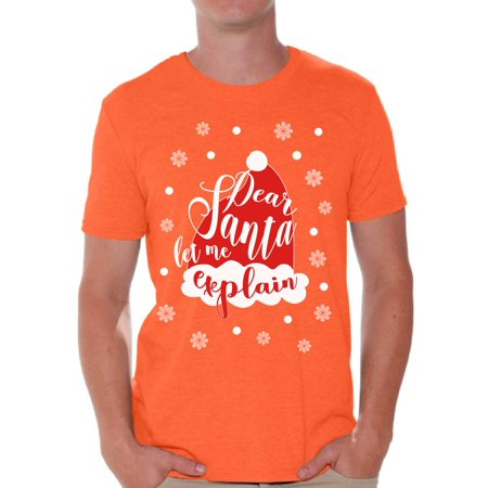 4ab6b992 Awkward Styles Dear Santa Let Me Explain Tshirt for Men Dear Santa Shirts  Funny Christmas Shirt for Men Xmas Men's Tshirt Holiday Gifts Holiday Shirt  for ...