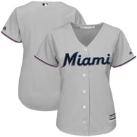 Product Image Miami Marlins Majestic Women s Road Team Cool Base Jersey -  Gray dc1977f77
