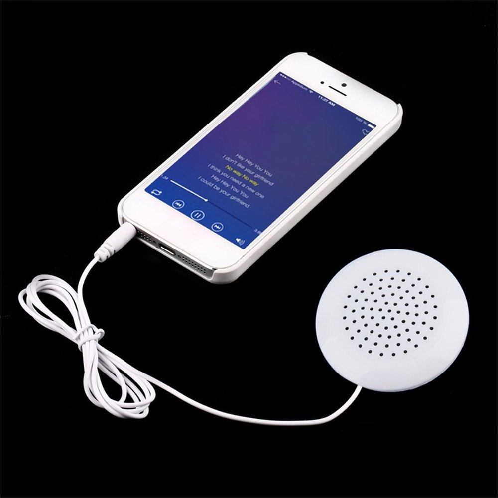 Mini White 3.5mm Pillow Speaker for MP3 MP4 Player For iPhone For iPod CD Radio Speaker