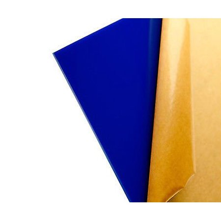 """2 pack- BLUE ACRYLIC #2050- OPAQUE PLASTIC SHEET    1/8"""" Thick     12"""" X 24"""" Nominal"""